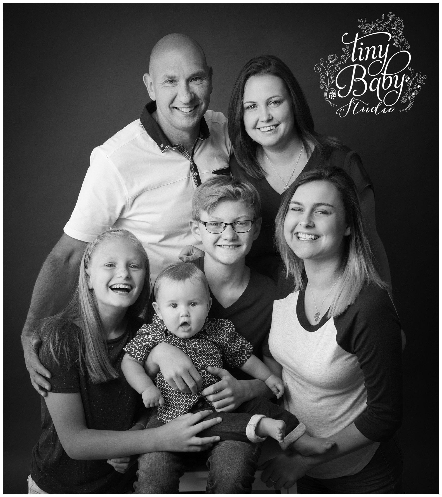 Tiny Baby Studio Family Photography