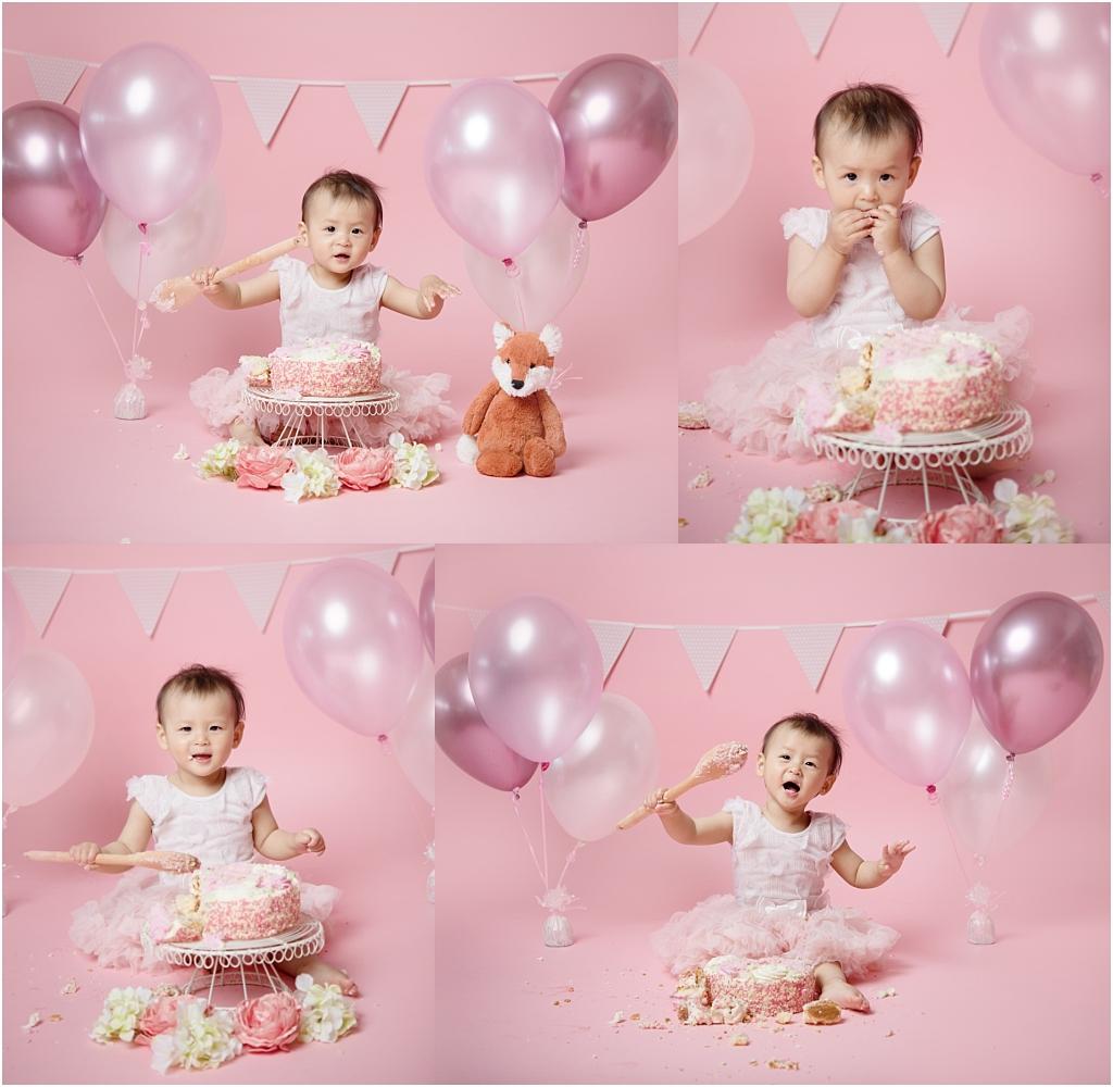 Tiny Baby Studio Newcastle Cake Smash for First Birthday Girls