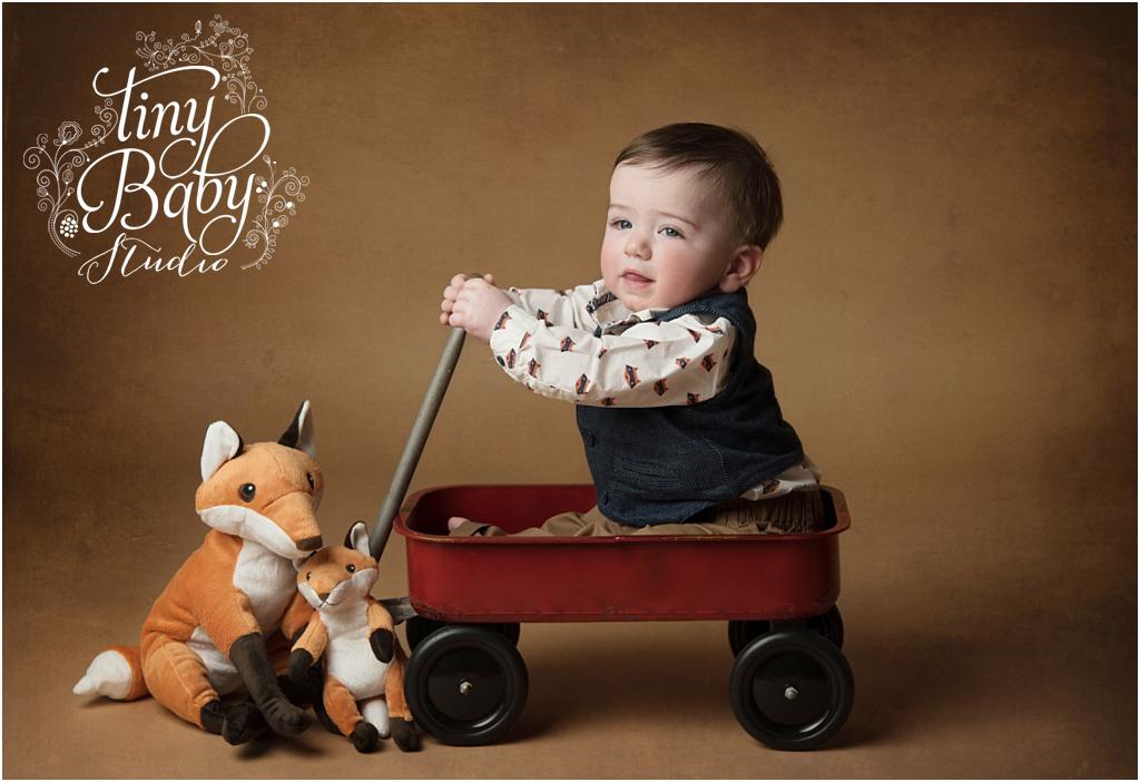 Tiny Baby Studio Newcastle newborn baby photographer 8 month boy