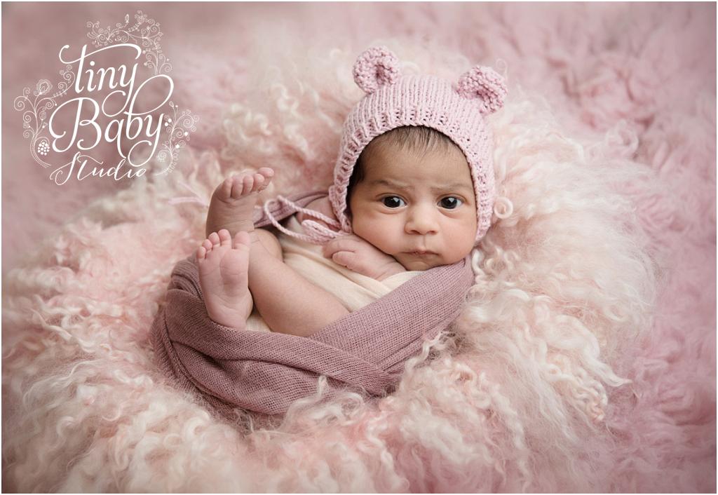 Tiny Baby Studio Newcastle newborn baby photographer awake newborn