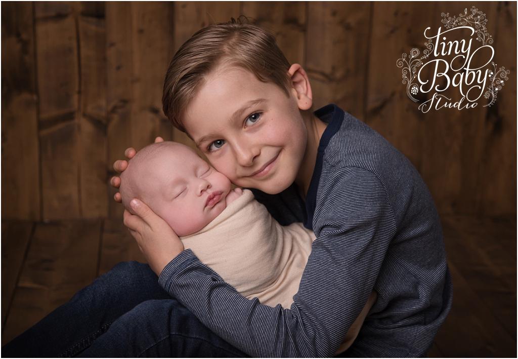 Tiny Baby Studio Newcastle newborn baby photographer baby brother