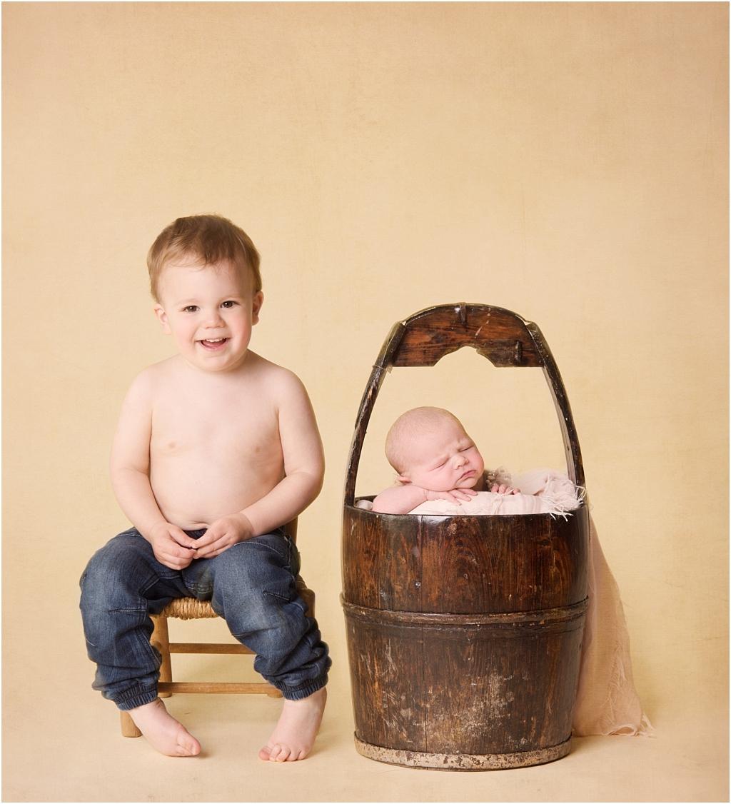 Tiny Baby Studio Newcastle Newborn Baby Photographer Big Brother
