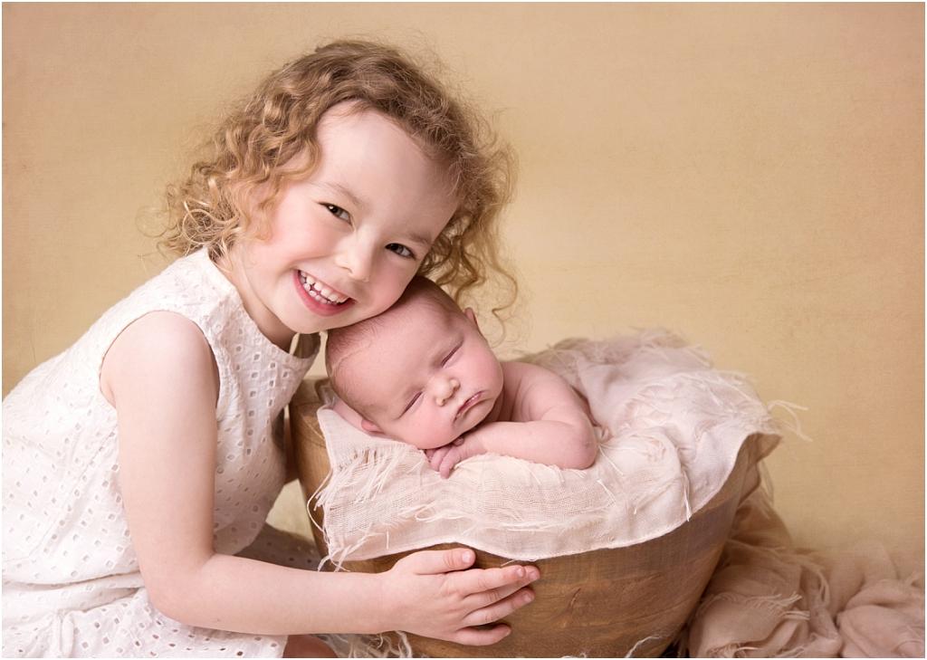 Tiny Baby Studio Newcastle Newborn Baby Photographer Big Sister