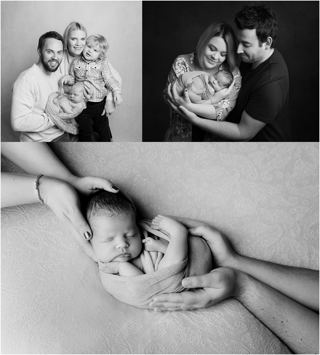 Tiny Baby Studio Newcastle Newborn Baby Photographer black and white images
