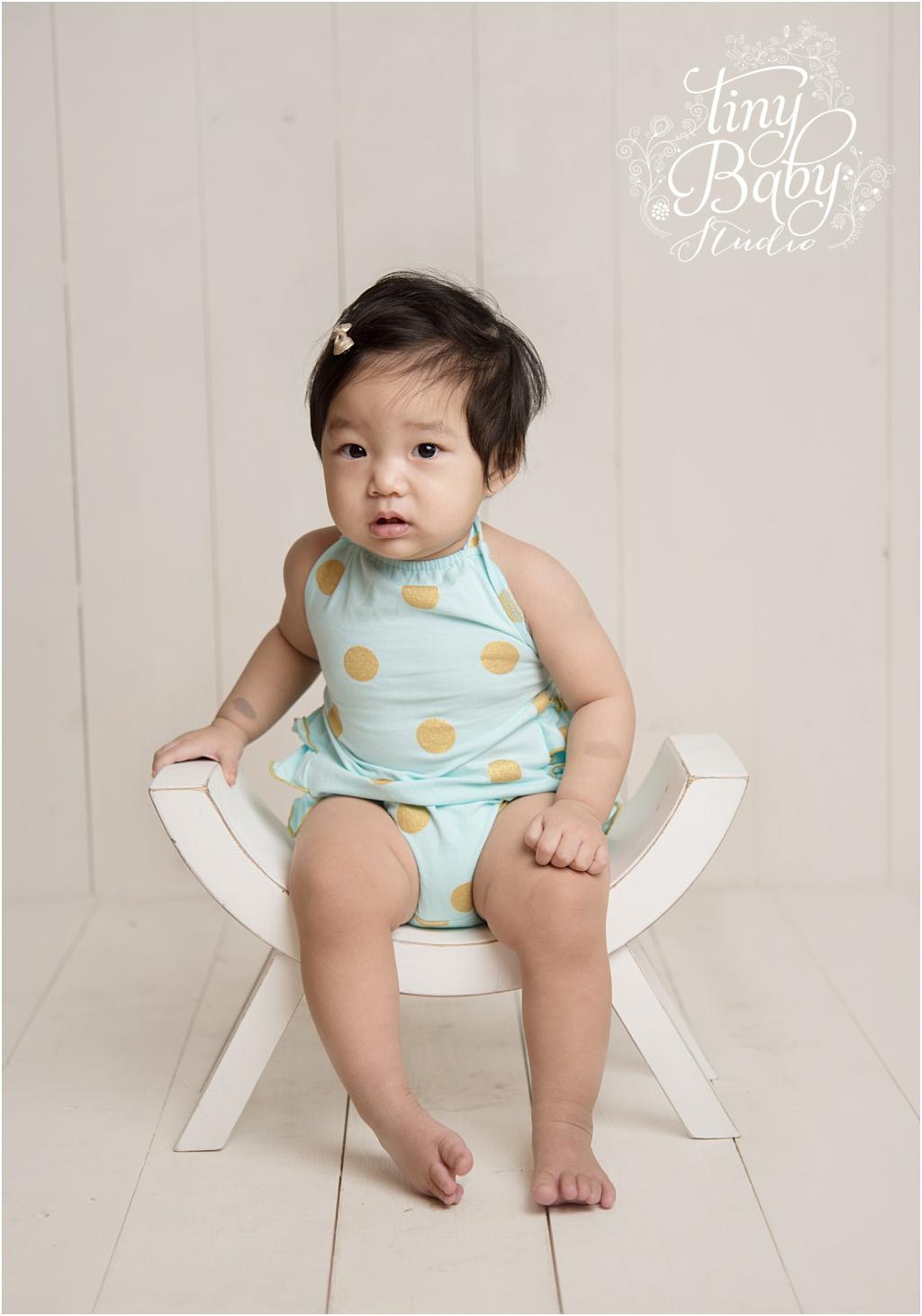 Tiny Baby Studio Newcastle newborn baby photographer first birthday