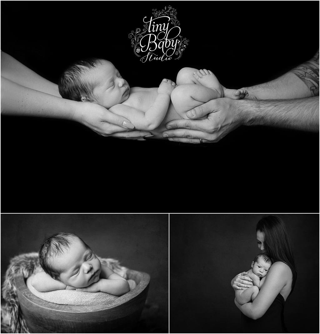 Tiny Baby Studio Newcastle Newborn Baby Photographer Newborn Black and White