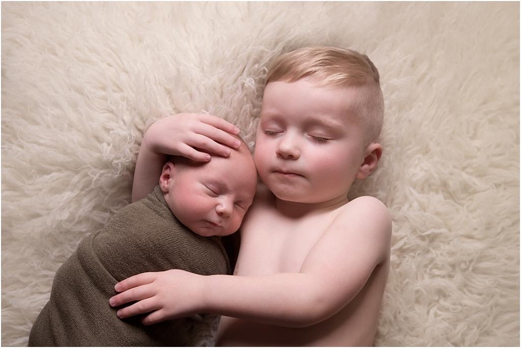 Tiny Baby Studio Newcastle Newborn Baby Photographer Siblings Sleeping
