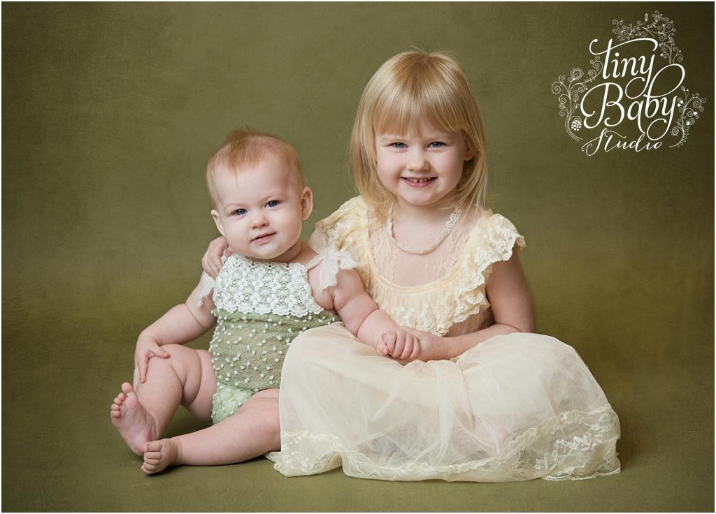 Tiny Baby Studio Newcastle newborn baby photographer sisters