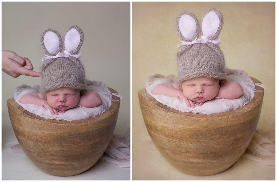 Tiny Baby Studio Newcastle Newborn Baby Photographer Supported Newborn