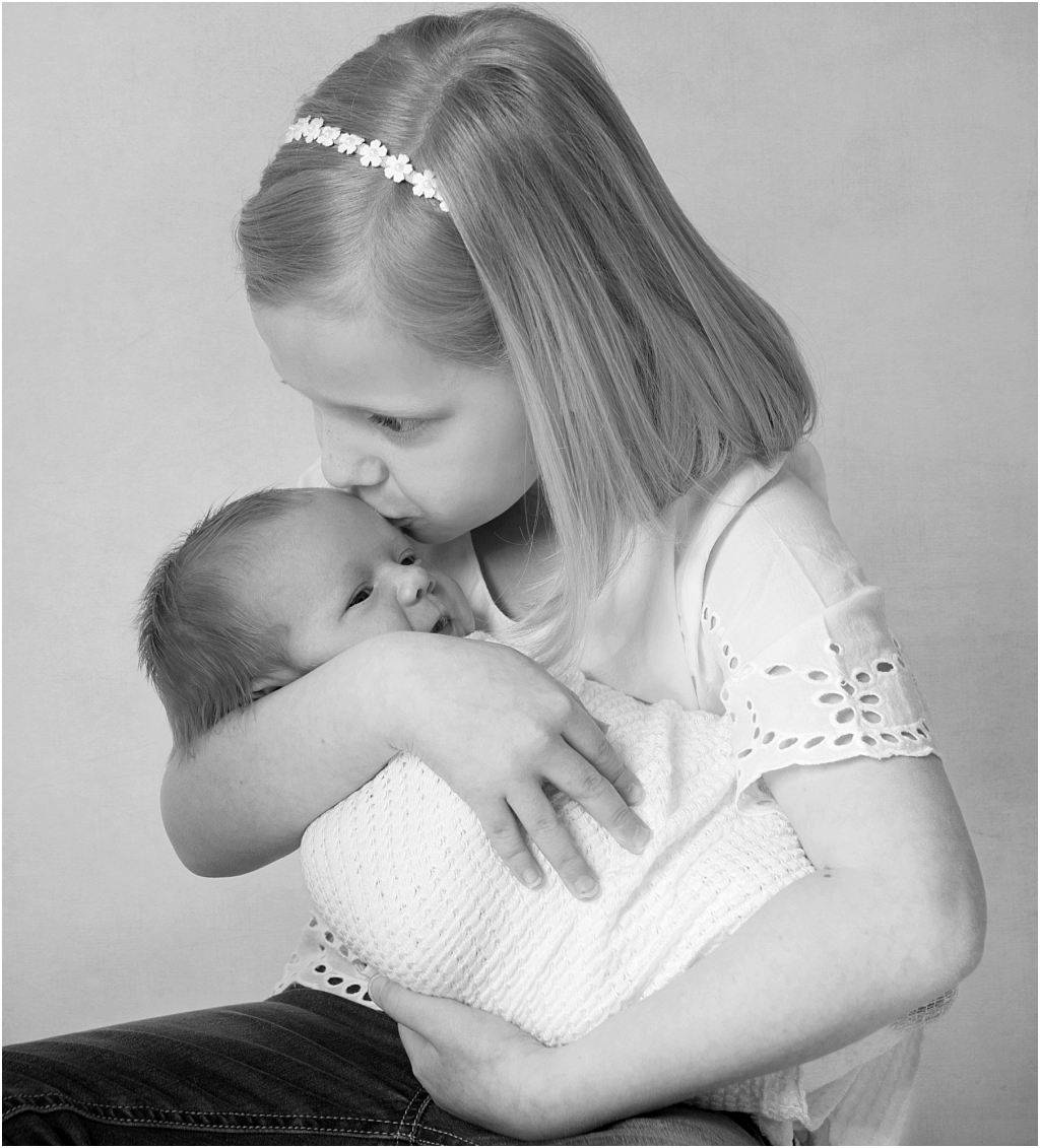 Tiny Baby Studio Newcastle Newborn Baby Photographer Wrapped Baby Hug