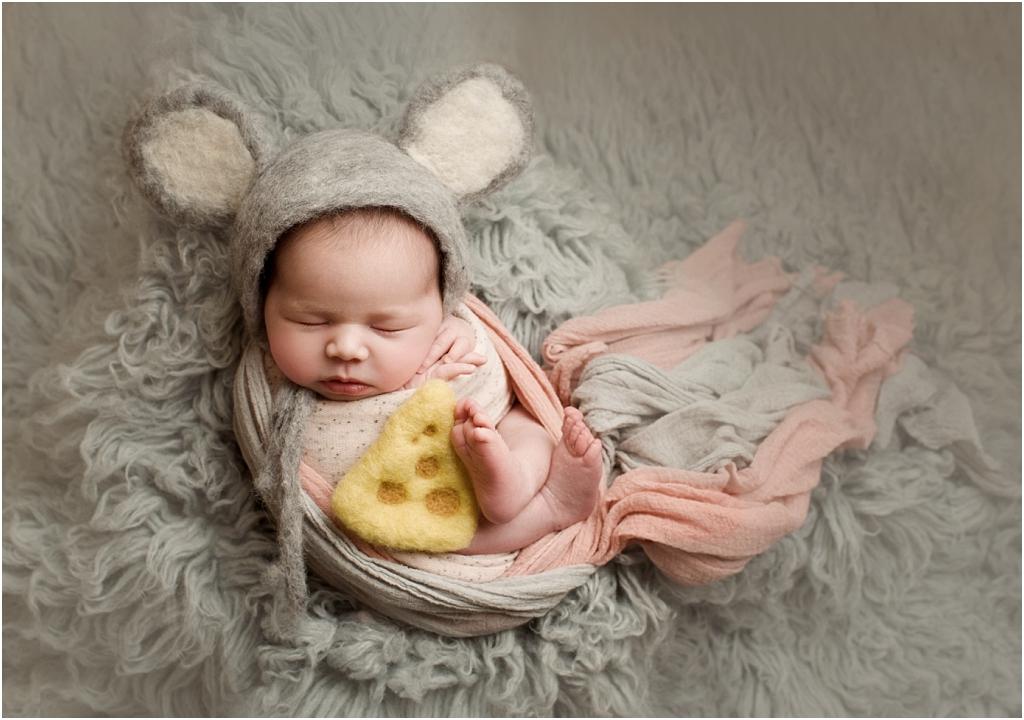 tiny baby studio newcastle newborn photographer baby mouse