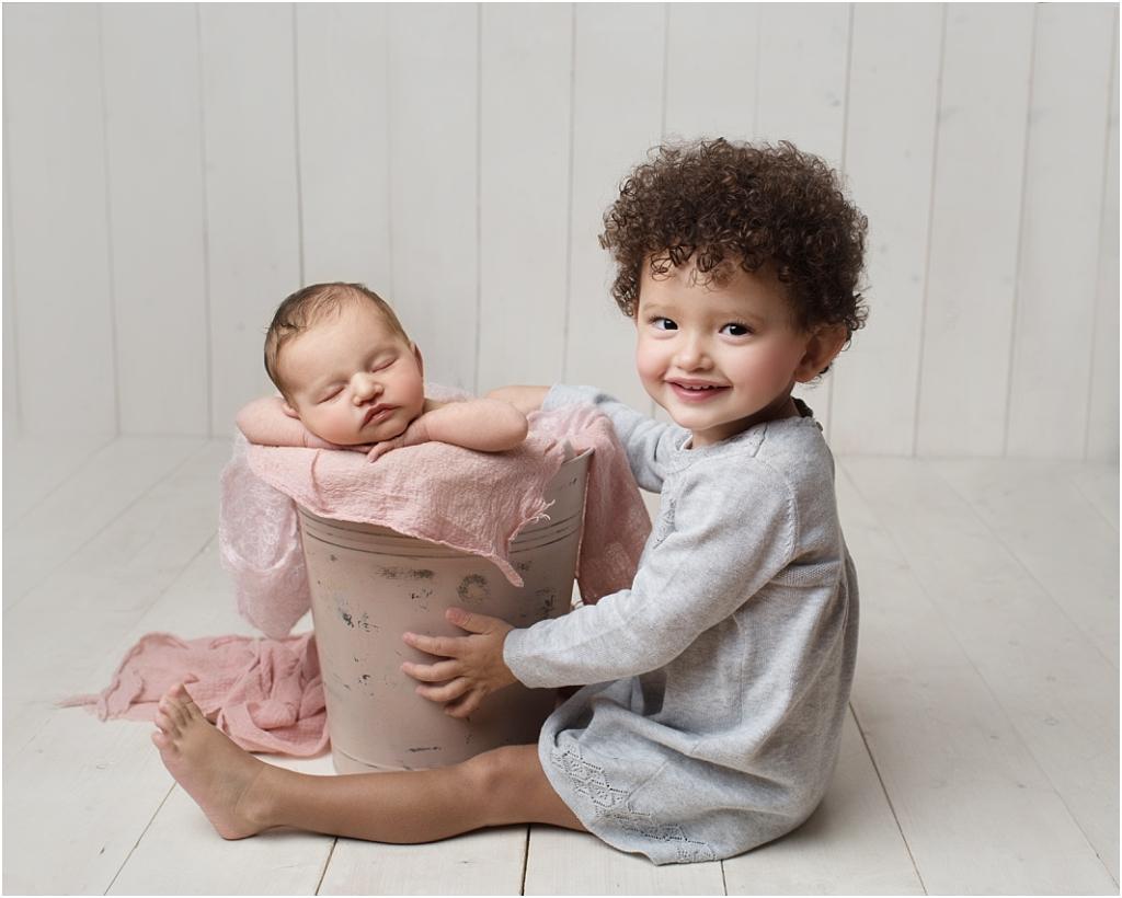 tiny baby studio newcastle newborn photographer big sister