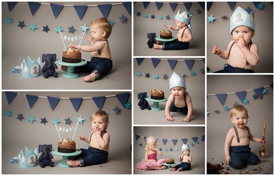 Tiny Baby Studio Newcastle Newborn Photographer Cake Smash First Birthday