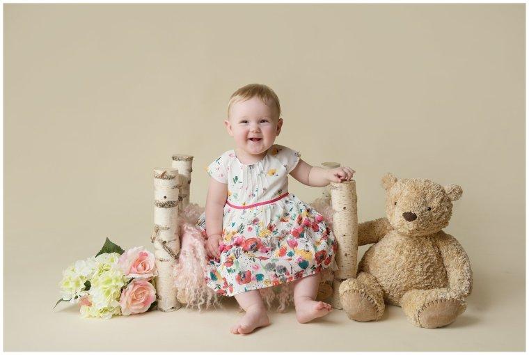 Tiny Baby Studio Newcastle Newborn Photographer First Birthday Bed Prop