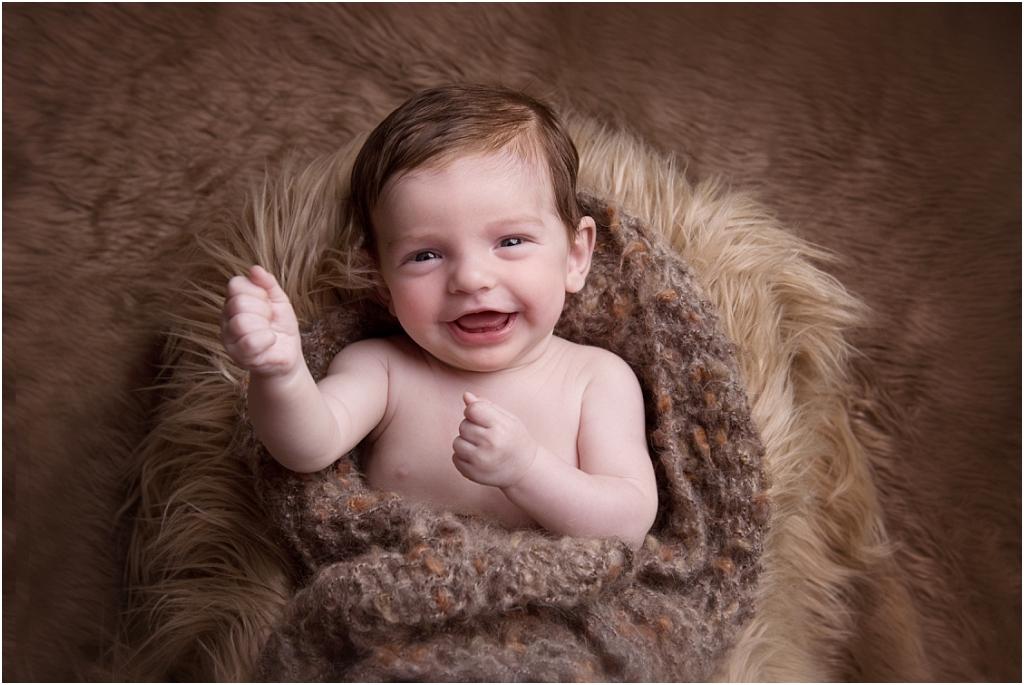 Tiny Baby Studio Newcastle Newborn Photographer Older Newborns Smiling Baby