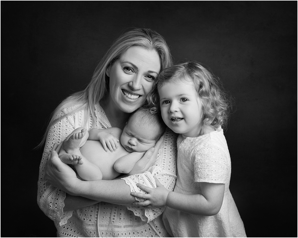 tiny baby studio newcastle newborn photographer parents and siblings