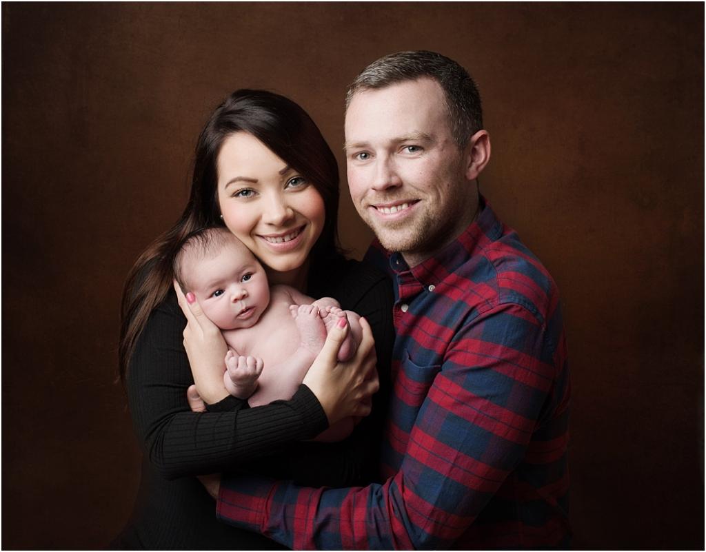 tiny baby studio newcastle newborn photographer parents with baby