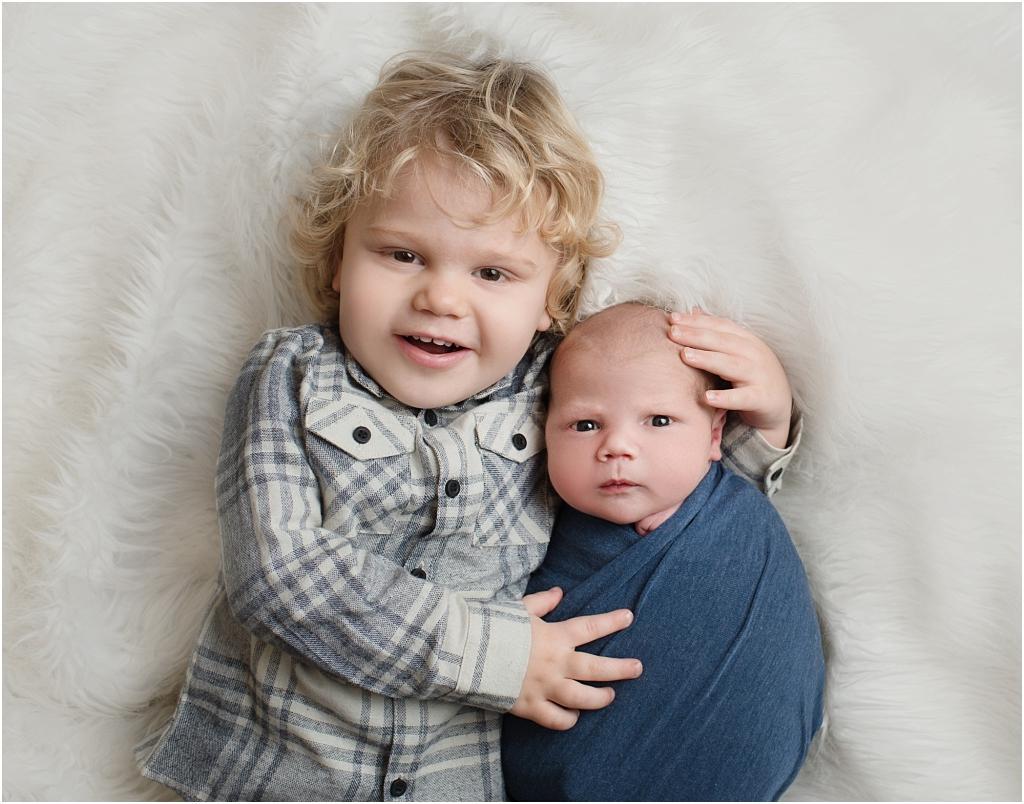 tiny baby studio newcastle newborn photographer siblings